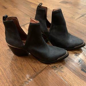 Jefferey Campbell Cromwell western black leather